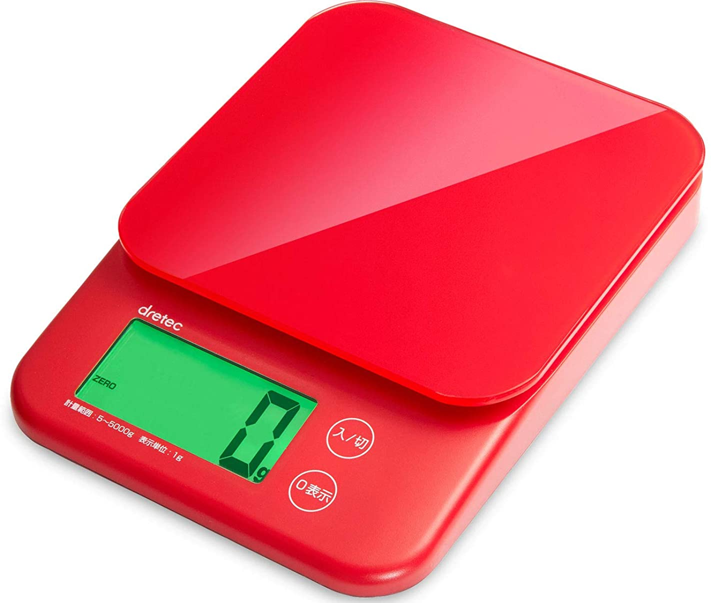 グラフ不調和マトリックスdretec(ドリテック) キッチンスケール デジタル 5kg/1g単位 KS-513RD レッド