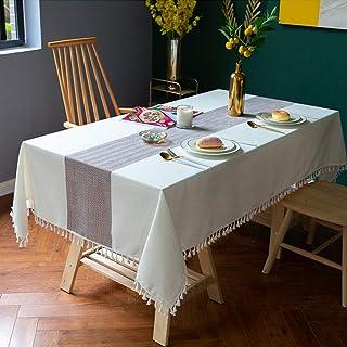 YuoungYuan Nappe Anti Tache rectangulaire Nappe Cuisine Nappes Partie de Linge de Table Table de Jardin Tissu Table Chiffo...