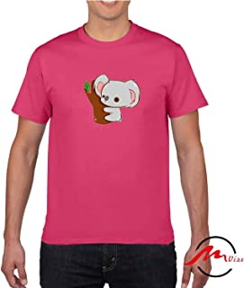 ZMvise Koala On A Tree Pattern Novelty Cotton Tee Unisex Adult Youth Tshirt Quote T-Shirt