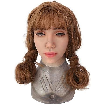 Silikon Kopfbedeckung Realistische Weibliche Crossdresser Halloween