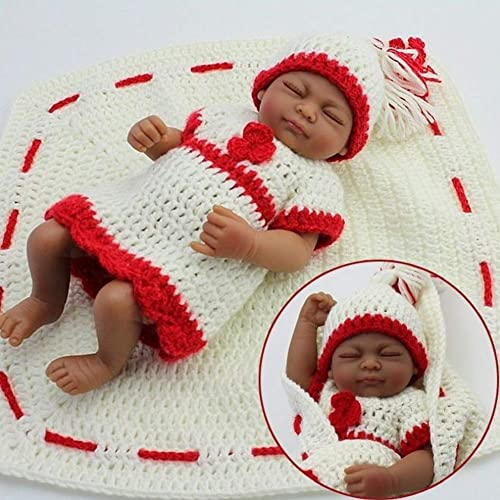 en venta en línea NACHEN Reborn bebé muñecas Piel Oscura Cerrada Ojos Suave Silicona Silicona Silicona Vinilo Realista niña muñeca Juguete Regalo recién Nacido Realista bebés  punto de venta en línea
