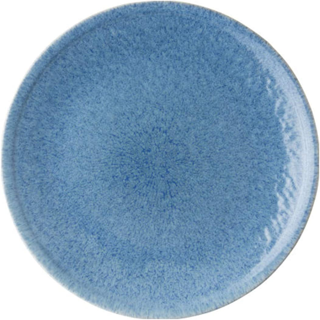 Dinner Plates Max 57% OFF unisex Blue Plate with Pla Texture Delicate Large