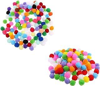lahomia 200 peças de mini pompons coloridos bolas de pompom para artesanato criativo faça você mesmo