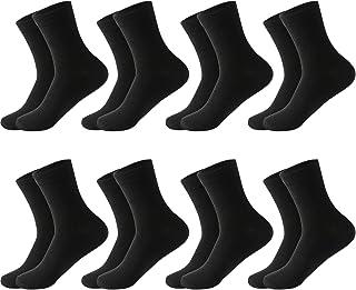 MOCOCITO, Calcetines Hombre, 8/10 pares Calcetines Tobilleros Hombre Mujer Unisex Calcetines Medios Algodón Transpirables, Ideales para Ciclismo, Uso Diario y Deporte