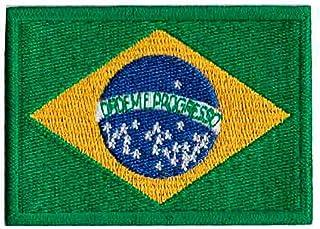 Patch Bordado - Bandeira Brasil BD50015-34G Termocolante Para Aplicar