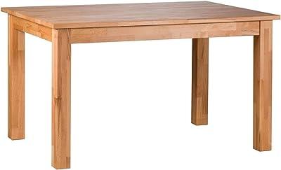 Amazon Brand Lukas Table Cœur de hêtre huilé naturel 110 x 70 x 75 cm