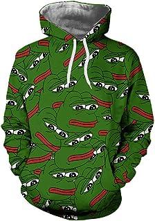 Unisex 3D Pepe The Frog Print Harajuku Hip Hop Hoodies Sweatshirts