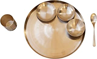 De Kulture Ayurveda Pure Kansa Bronze Dinner Thali Set