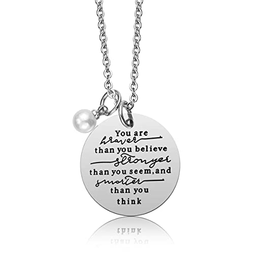 618783124a6f iJuqi Always Remember You are Braver Than You Believe Pendant Necklace
