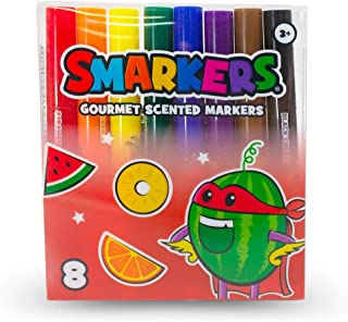 Scentco Smarkers - Scented Markers, Assorted Colors (Medium Point Tip) - 8 Count