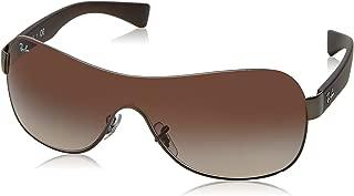 RB3471 Shield Sunglasses, Matte Gunmetal/Brown Gradient, 32 mm