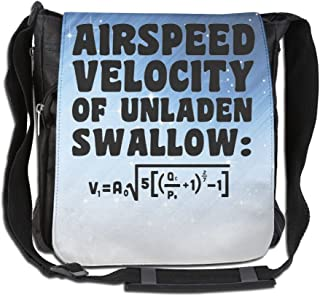 Jeffry G. Reaves Airspeed Velocity Of Unladen Swallow Handbag Cross Body Bag Messenger Sling Bag Shoulder Bags