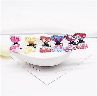 Osize 美しいスタイル 子供のカラフルなかわいい蝶小さな爪クリップミニ顎クリップヘアアクセサリー(ランダムカラー)