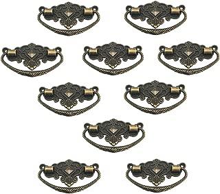 UniDecor 10 Pcs Vintage 73mm X 45mm Crown of Stars Style Dresser Drawer Pulls Handles / Vintage Furniture Knobs Handle,