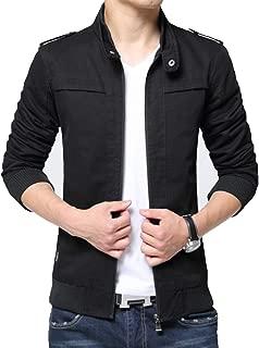 XueYin Men's Casual Lightweight Cotton Stand Collar Outdoor Windbreaker Jacket