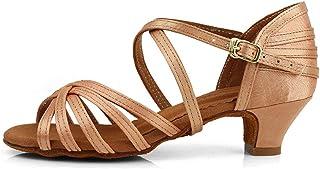 HROYL Fille/Femme Chaussures de Danse de Salon Latine Salsa Ouverte,ZSXGG-WX608