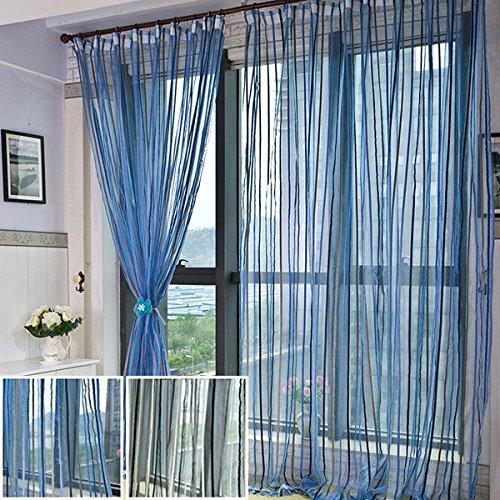 Bazaar 100x200cm Chenille strepen raam screening balkon slaapkamer venster gordijn
