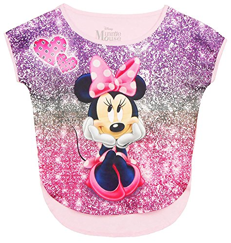 Disney Girls Minnie Mouse Sparks Sublimated Top Pink Small