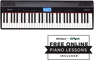 Roland GO:PIANO 61-key Digital Piano Keyboard with Integrated Bluetooth Speakers (GO-61P)