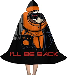 Kenny 800 South Park Terminator Unisex Kids Hooded Cloak Cape Halloween Christmas Party Decoration Role Cosplay Costumes Outwear Black