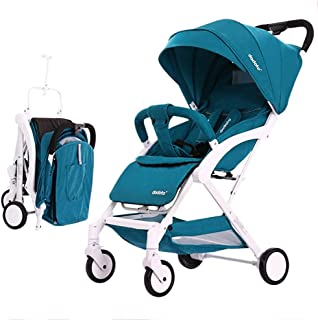 Pull Rod Type Baby Stroller Ultra Lightweight Compact, One-Hand Easy Fold, Best Used for Airplane & Car Travel