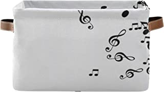 Paniers de rangement Boîte de rangement pour organisateur de placard de disque de musique abstraite avec poignée Organisat...