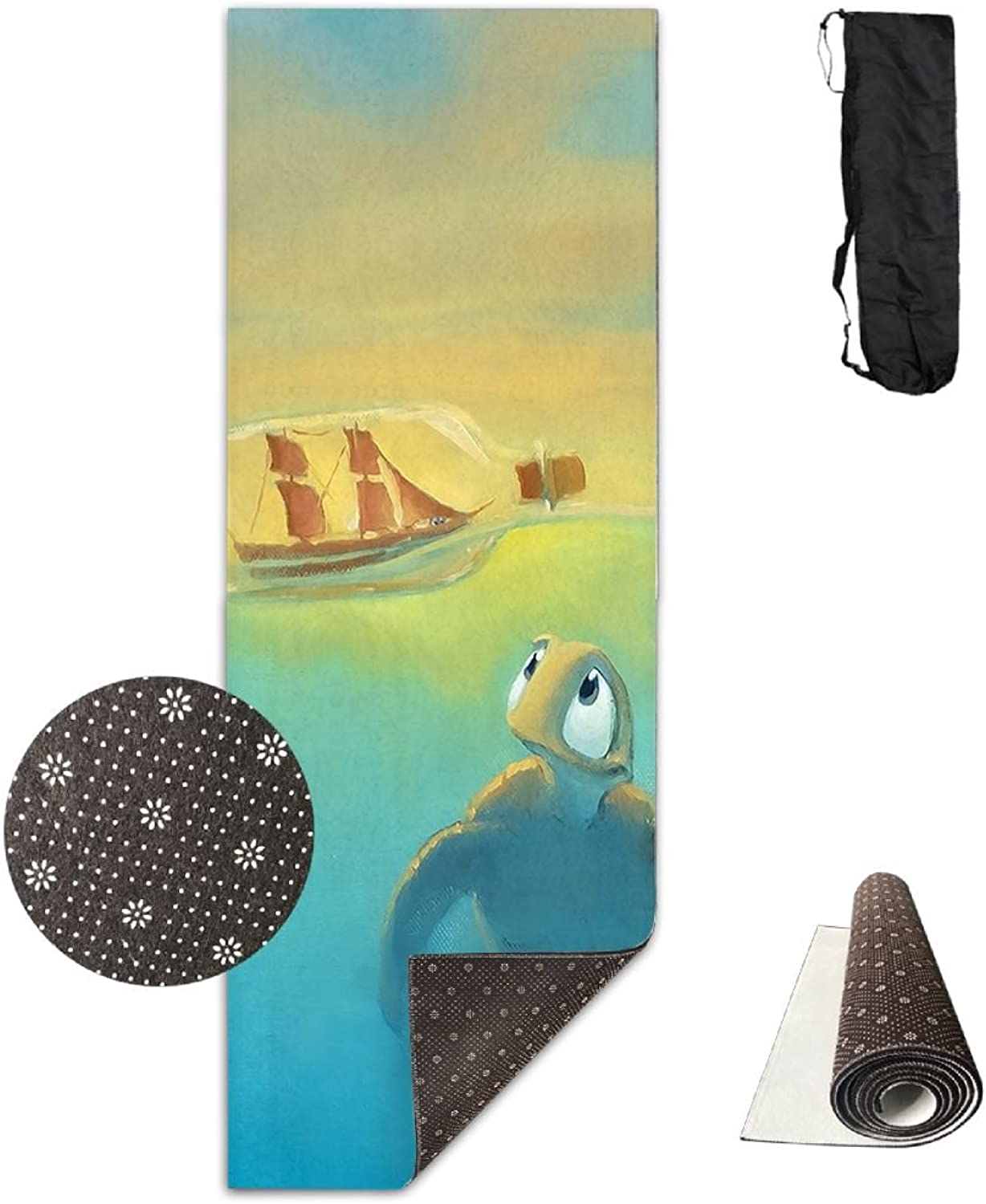 Gym Mat Turtle Baby And Bottle Fitness High Density AntiTear Exercise Yoga Mat With Carrying Bag For Exercise,Pilates