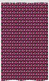 ABAKUHAUS Fuchsie Schmaler Duschvorhang, Karten-Anzugs-Schachbrett Vegas, Badezimmer Deko Set aus Stoff mit Haken, 120 x 180 cm, Smaragd & Pink