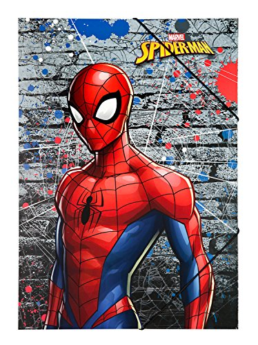 Undercover SPLO0290 Gummizugmappe A3 Marvel Spider-Man, Rot, One Size