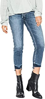 Women's Kenni Mid Rise Girlfriend-Relaxed Skinny Crop Jeans