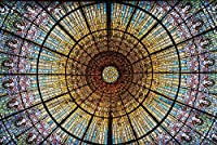大人のためのジグソーパズルバルセロナガラス窓スペインパズル1000ピース旅行のお土産