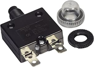 Zephyr 30 Amp DC Circuit Breaker Push-Button Reset with Quick Connect Terminals and Waterproof Button Cover