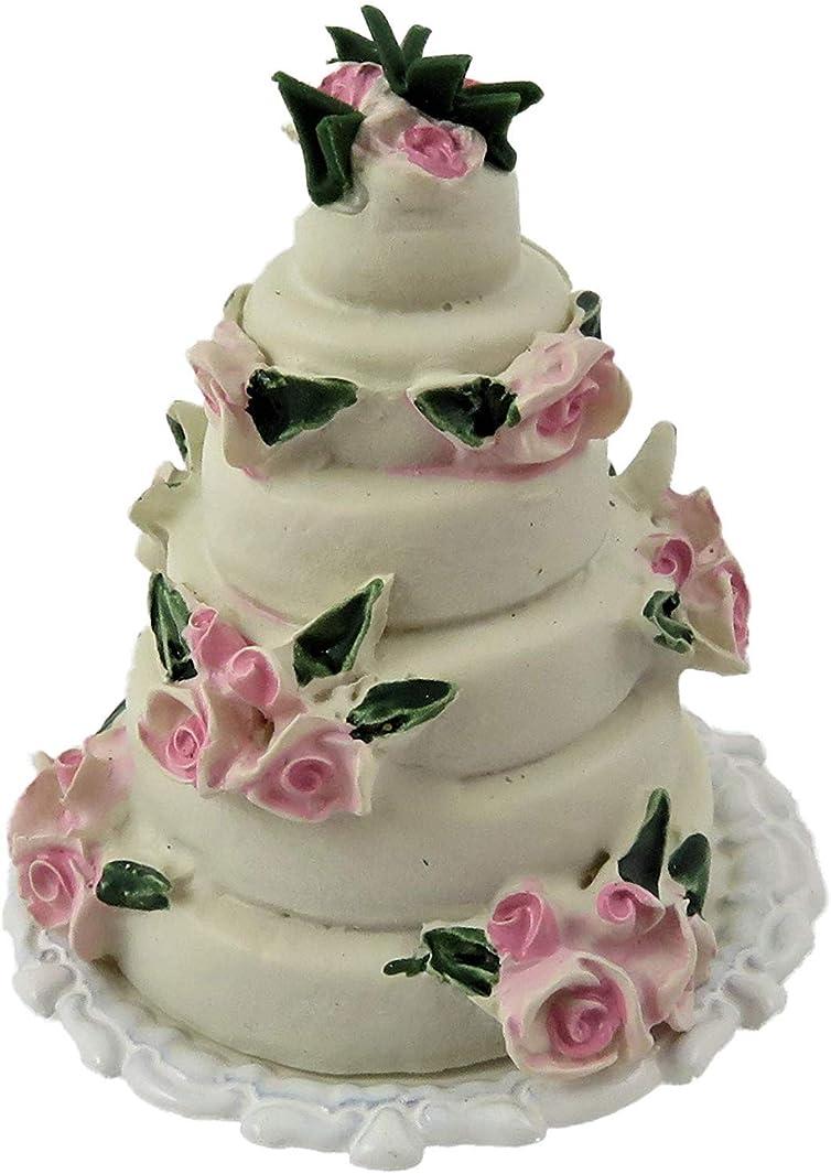 母探偵光ドールハウス6層ウェディングケーキお祝いパーティーショップアクセサリー1:12スケール