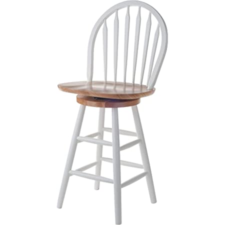 Amazon Com Winsome Wood Wagner Stool 24 White Natural Furniture Decor