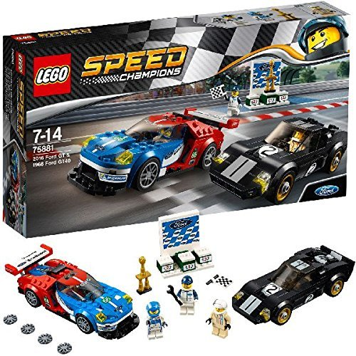 LEGO Speed Champions - Coches Ford GT de 2016 y Ford GT40 de 1966 (Lego 75881)