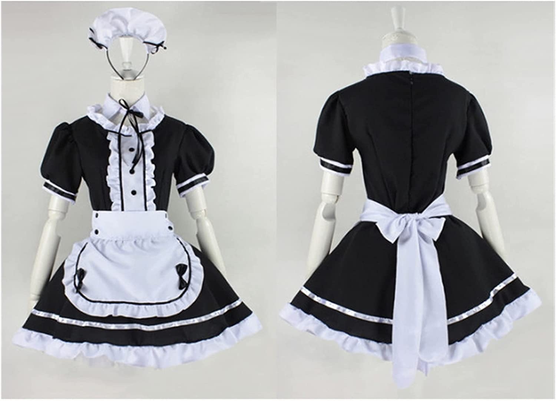 ZYYH NJJPN Black Super intense SALE Tucson Mall Cute Lolita Maid Costume Girl Dress Costu Anime