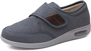 JACKES Hommes Mme Diabétiques Chaussures Unisexe Respirant Tactile De Fixation Chaussons Orthopédique Diabetic Slipper Bot...