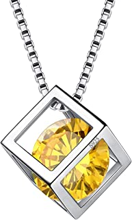 Best silver necklace birthstone Reviews