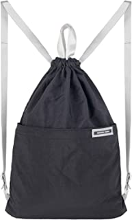 Drawstring Bags, Creative Design Gymsack, Unisex Sackpack, Casual Backpack, Sport's Equipment Bag Travel Bags (Black)