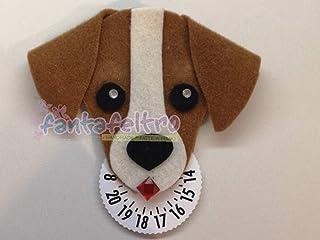 Disco orario cane Jack Russell - idea regalo uomo donna
