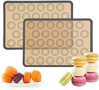 LLAAIT 2pcs Maison Tapis de Cuisson en Silicone antiadhésif Four Feuille de gâteau de pâtisserie Cuisine Tapis de Cuisson ...