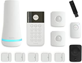 SimpliSafe 12 Piece Wireless Home Security System w/HD Camera - Optional 24/7 Professional Monitoring - No Contract - Comp...