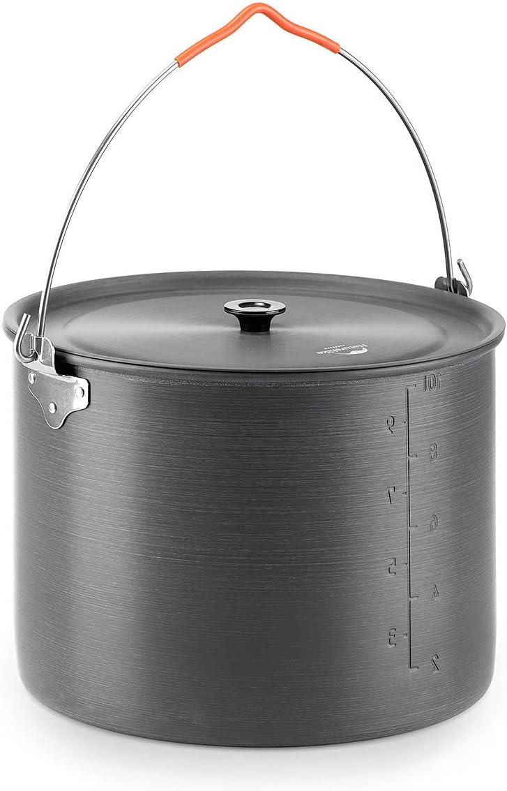 アルミニウム合金 吊り鍋 ハンギングポット クッカー (iBasingo)