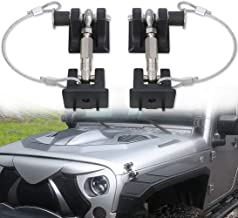 sukemichi Jeep JK Hood Latches with Lock, Theftproof Hood Catches Pins for Jeep Wrangler JK 2007-2017, Upgrade