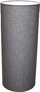 Abażur 250x600 mm średnica x wysokość   Walec   Bawełna szara, ciemna   Pod oprawkę E27   Do lamp stołowych, podłogowych i...
