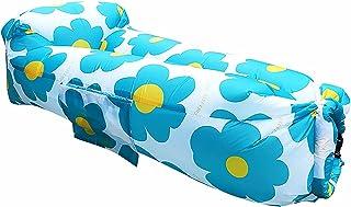 Uppblåsbar strandstol, utesäng Lenger, burk 200KG Fällbar förvaring Uppblåsbar soffa 240x50 X70 cm Uppblåsbar lat soffa