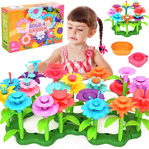 Victostar Flower Building Toy Garden Building Blocks Toy Set for Kids, 98...