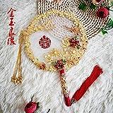 ZJSXIA China China Antigüedad Casada Novia sosteniendo Flores...