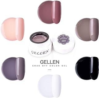 Gellen Japan Gel Soak Off UV LED Gel Nail Polish, Understated Elegance Colors - 2018 New Arrival Professional Gel Manicure