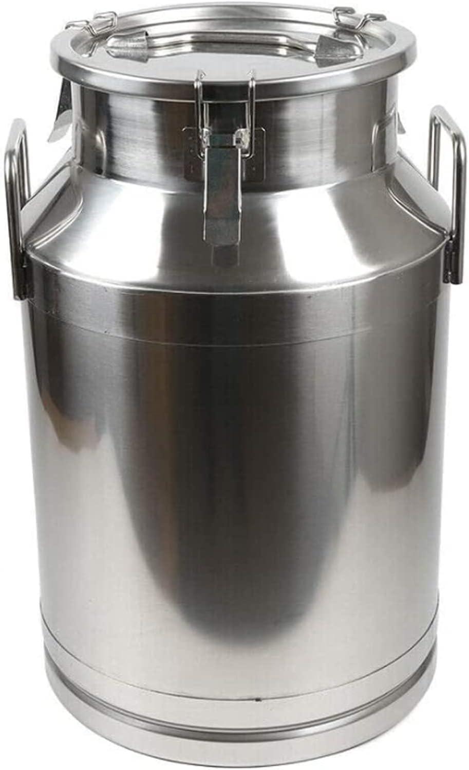JHZDX Leche De Acero Inoxidable Puede 30 LITRÍA DE LECTUDA Cubo DE Vino DE Vino DE Vino DE Vino DE 8 GALON Leche Puede,30L/7.9 Gallon